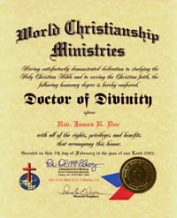 dd cert how to be ordained