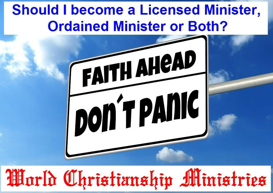 faith ahead license or ordination